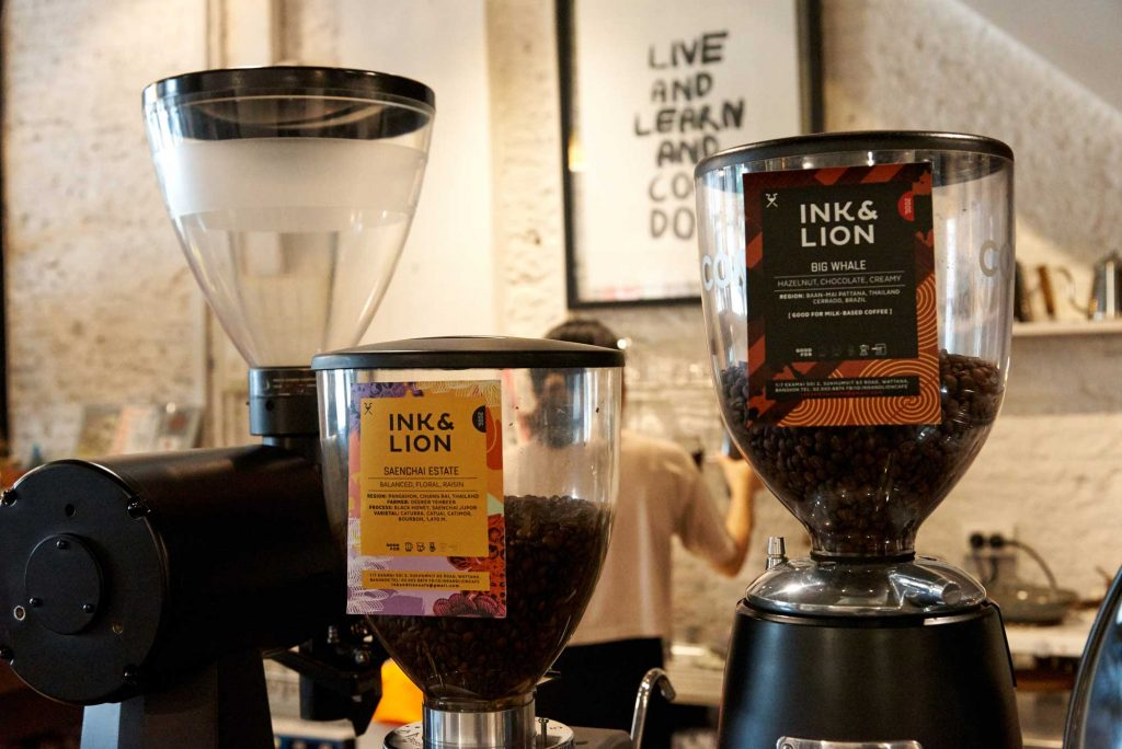 Ink and Lion Coffee Hopper