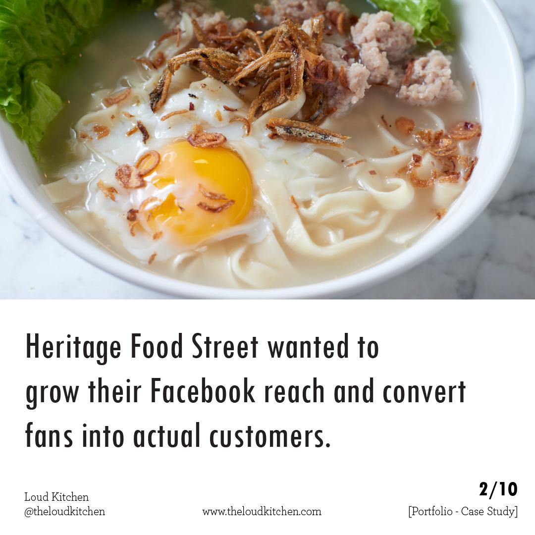 Heritage Food Street 2 why Heritage wanted help